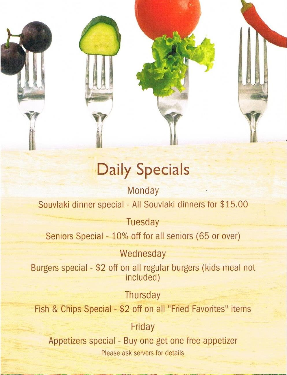Daily Specials for site